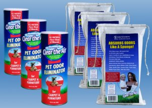 Car Odor Remover Bundle (enough for two cars)
